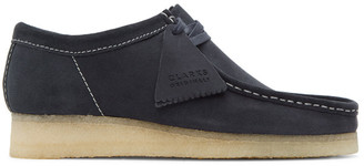 Clarks Navy Suede Wallabee Moccasins