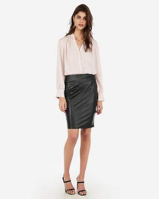 Express Vegan Leather High Waisted Pencil Skirt
