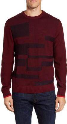Bugatchi Geo Wool Blend Sweater