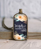 Designs By Karamarie Designs by KaraMarie Women's Necklaces bronze - Peach & Bronzetone Floral 'Fearfully & Wonderfully' Pendant Necklace