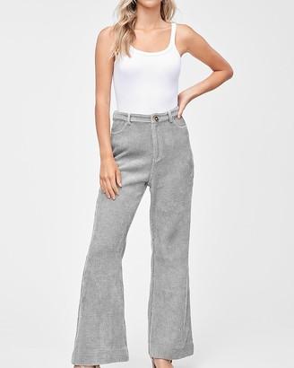 Express En Saison High Waisted Corduroy Flare Jeans
