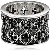 King Baby Studio Wide Relic Band Sterling Silver Ring, Size 7