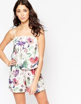 Motel Harley Romper In Botanical Print
