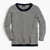 J.Crew Striped crewneck sweater in everyday cashmere
