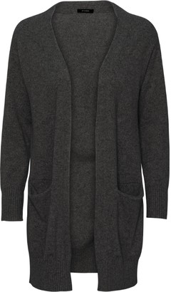 Oh Simple - Dark Grey Long Cashmere Cardigan - xs | dark grey - Dark grey