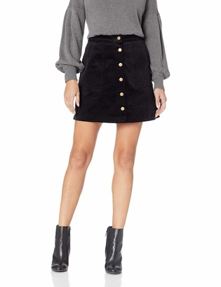 Kensie Women's Corduroy Skirt with Button Front