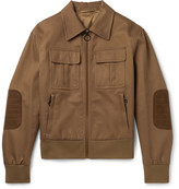 Neil Barrett Suede-Trimmed Cotton-Canvas Blouson Jacket