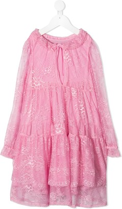 Ermanno Scervino Lace Layered Tiered Dress