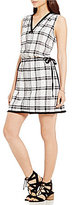 M.S.S.P. Side Ties Plaid Shift Dress