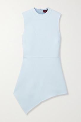 Sies Marjan Bianca Asymmetric Stretch-crepe Peplum Top - Sky blue
