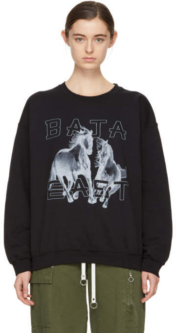 Baja East Black Freedom Sweatshirt