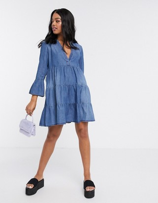 JDY denim smock dress in blue