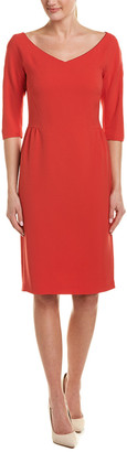 Lafayette 148 New York V-Neck Sheath Dress