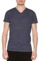Tomas Maier Cotton V-Neck Tee, Navy