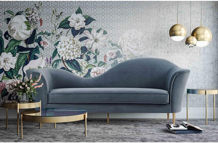Thumbnail for your product : Tov Plato Grey Velvet Sofa