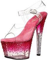 Pleaser USA Women's Stdus708-2/C/HP Platform Dress Sandal, 8 M US