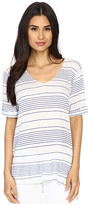 Culture Phit Clara Striped V-Neck Top