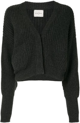 Le Kasha Ribbed Knit Cardigan