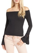 Mimichica Women's Mimi Chica Ribbed Off The Shoulder Top