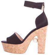 Nicholas Kirkwood Satin Pearl Sandals