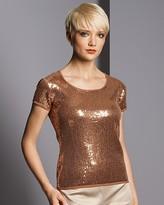 Sutton Studio Exclusive Women's Sequin Tee: Exclusively at Bloomingdale's