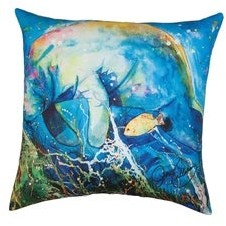 C&F Home Manatee Barrier Reef Printed 18 Inch Accent Decorative Accent Throw Pillow
