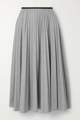 Moncler Pleated Jersey Midi Skirt - Gray