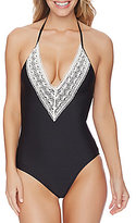 Ella Moss Tribal Dream Lace Plunge One-Piece