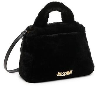 Moschino Faux Fur Eyes Shoulder Bag
