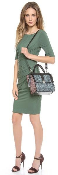 Carven Multicolor Tweed Handbag
