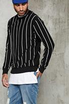 Forever 21 FOREVER 21+ Pinstripe Crew Neck Sweater