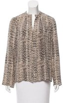 Derek Lam Silk Animal Print Top
