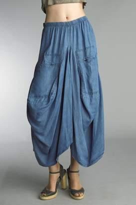 Tempo Paris Denim Bubble Skirt