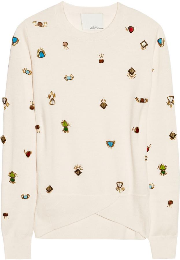 3.1 Phillip Lim Embellished wool sweater