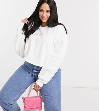 Skinnydip Curve x clueless oversized sweatshirt with ugh print