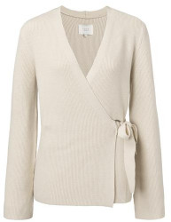 Ya-Ya Wrapped Cardigan With Structured Knit - S