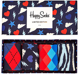 Happy Socks Limited Edition Socks, One Size, Pack Of 4, Multi