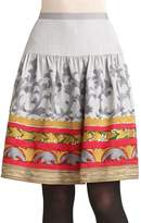 Oscar de la Renta Women's Embroidered Skirt