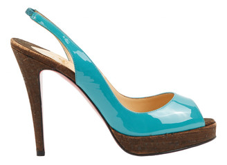 Christian Louboutin Private Number Turquoise Patent leather Heels