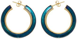 Carousel Jewels Gold & Turquoise Large Enamel Hoops