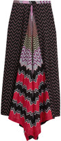 Missoni Mare asymmetric crochet-knit coverup