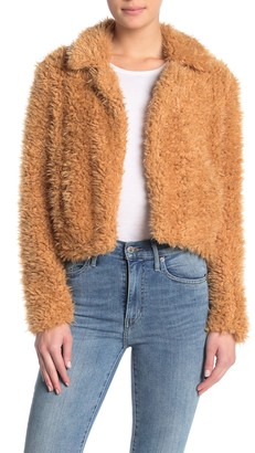 Blanknyc Denim Faux Shearling Teddy Coat