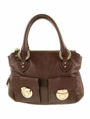 Marc Jacobs Leather Satchel Bag Brown