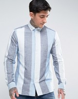 Ymc Wide Stripe Button Down Shirt