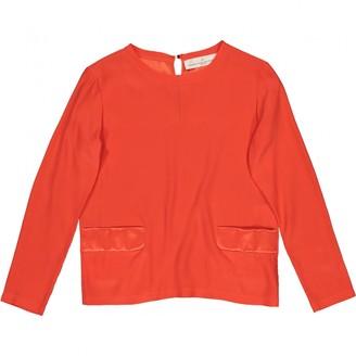 Golden Goose Orange Silk Top for Women