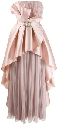 Alberta Ferretti Ruffled Bustier Dress