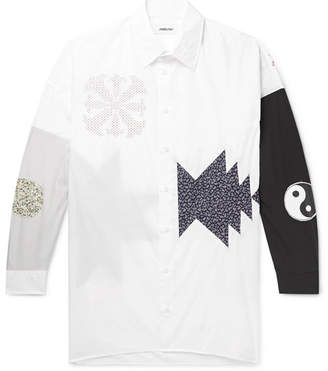 Ambush Oversized Appliqued Cotton-Poplin Shirt