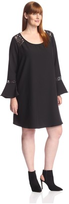 S.H.E. Soul Harmony Energy Plus Women's Woven Dress with Lace Detail