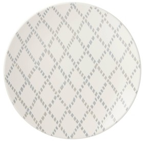 Lenox Textured Neutrals Grey Lattice Dinner Plate