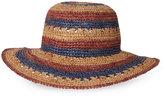 Betmar Violet Striped Straw Hat